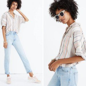 Madewell Courier Shirt in Aldwin Stripe Size XS